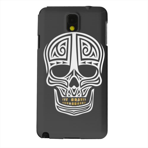 Geeks Designer Line (GDL) Samsung Galaxy Note 3 Matte Hard Back Cover - Rapero Muerto on Dark Mesh Dot