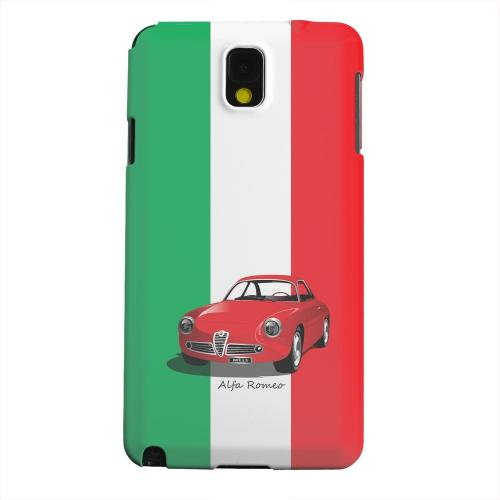 Geeks Designer Line (GDL) Samsung Galaxy Note 3 Matte Hard Back Cover - Red Alfa Romeo on Green/ White/ Red