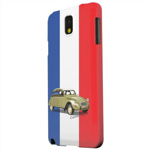 Geeks Designer Line (GDL) Samsung Galaxy Note 3 Matte Hard Back Cover - Citroen 2CV on Blue/ White/ Red