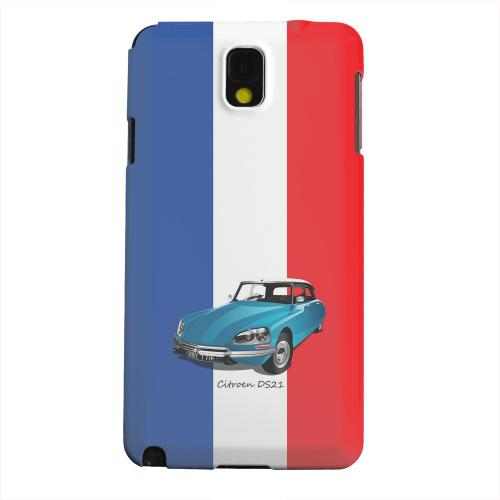 Geeks Designer Line (GDL) Samsung Galaxy Note 3 Matte Hard Back Cover - Citroen DS21 on Blue/ White/ Red