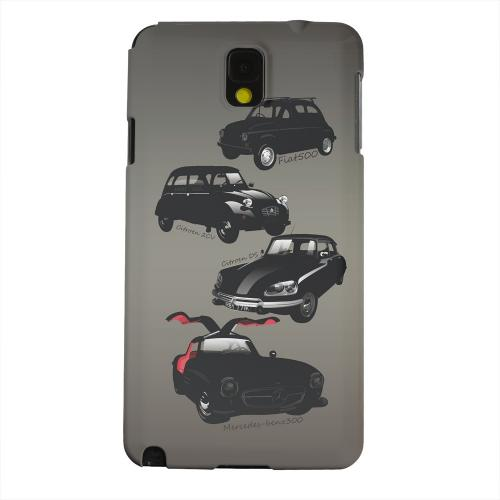 Geeks Designer Line (GDL) Samsung Galaxy Note 3 Matte Hard Back Cover - Classic Euro Cars Fade