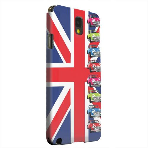 Geeks Designer Line (GDL) Samsung Galaxy Note 3 Matte Hard Back Cover - Multi Mini Coopers on Union Jack
