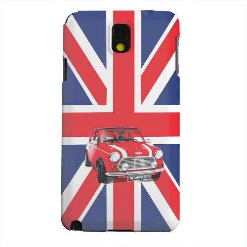 Geeks Designer Line (GDL) Samsung Galaxy Note 3 Matte Hard Back Cover - Solo Mini Cooper on Union Jack