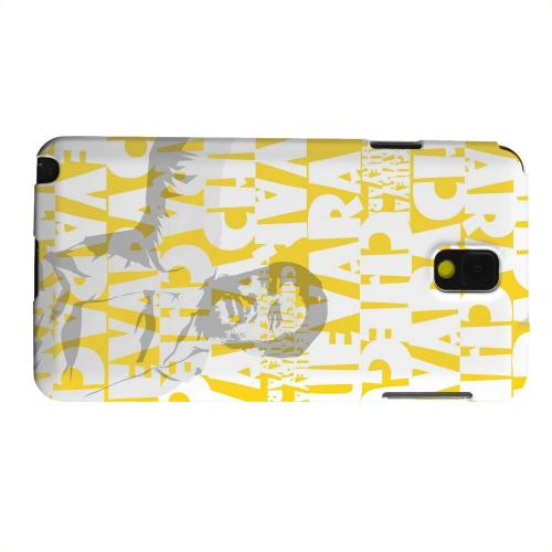 Geeks Designer Line (GDL) Samsung Galaxy Note 3 Matte Hard Back Cover - Che Guevara Discurso Faded Yellow