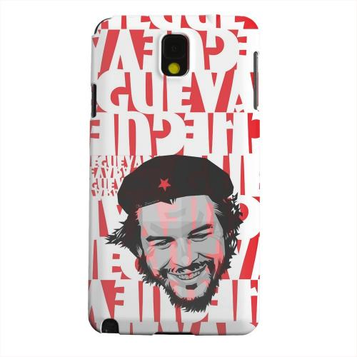 Geeks Designer Line (GDL) Samsung Galaxy Note 3 Matte Hard Back Cover - Che Guevara Happy Revolutionary on Red