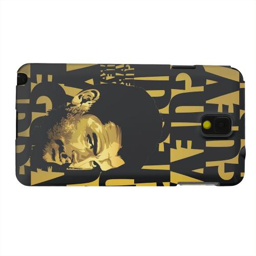 Geeks Designer Line (GDL) Samsung Galaxy Note 3 Matte Hard Back Cover - Che Guevara Serious Man on Gold