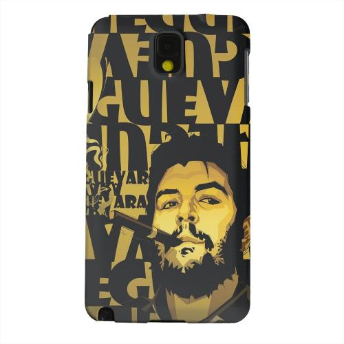 Geeks Designer Line (GDL) Samsung Galaxy Note 3 Matte Hard Back Cover - Che Guevara Smoke Gold