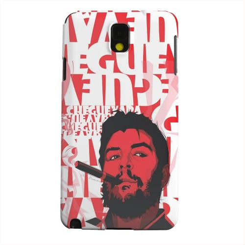 Geeks Designer Line (GDL) Samsung Galaxy Note 3 Matte Hard Back Cover - Che Guevara Smoke Red