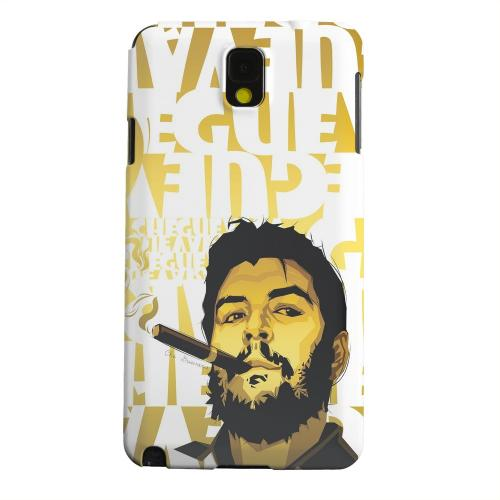 Geeks Designer Line (GDL) Samsung Galaxy Note 3 Matte Hard Back Cover - Che Guevara Smoke White Letters on Gold