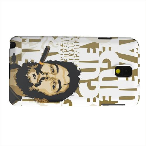 Geeks Designer Line (GDL) Samsung Galaxy Note 3 Matte Hard Back Cover - Che Guevara Smoke White Letters