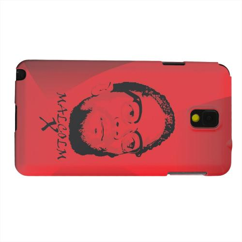 Geeks Designer Line (GDL) Samsung Galaxy Note 3 Matte Hard Back Cover - Malcolm X in the Middle on Red