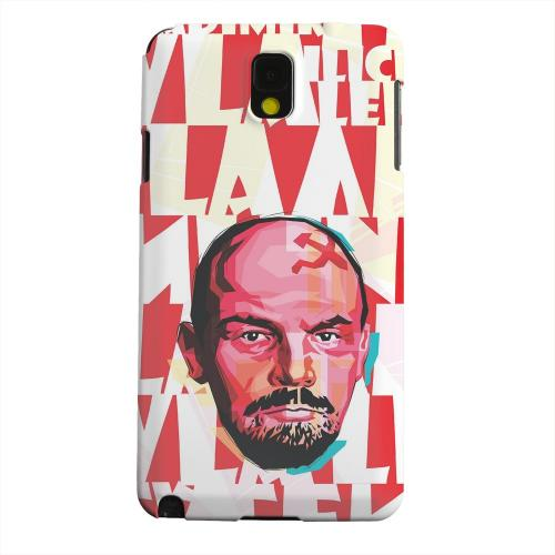 Geeks Designer Line (GDL) Samsung Galaxy Note 3 Matte Hard Back Cover - Lenin Complex on Red