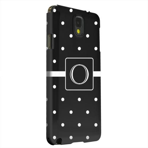 Geeks Designer Line (GDL) Samsung Galaxy Note 3 Matte Hard Back Cover - Monogram O on Classic Mini Polka Dots