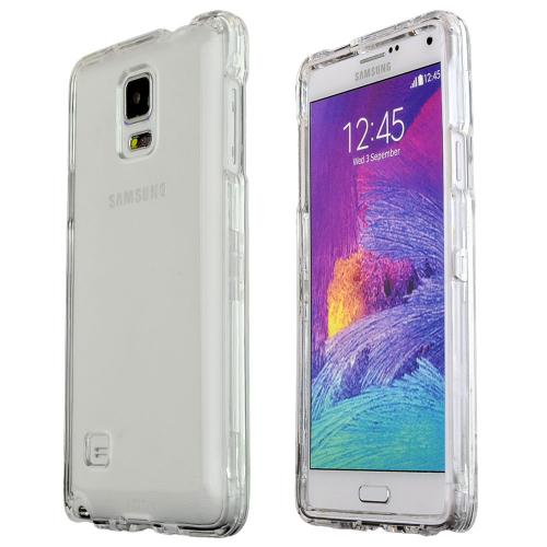 Samsung Galaxy Note 4 Case, [Clear]  Slim & Protective Crystal Glossy Snap-on Hard Polycarbonate Plastic Case Cover