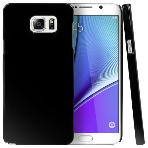 Samsung Galaxy Note 5 Case, [Black] Slim & Protective Crystal Glossy Hard Plastic Case