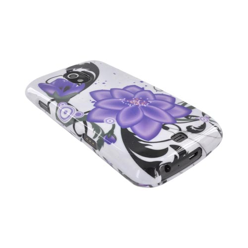 Samsung Galaxy Nexus Hard Case - Purple Lily on White