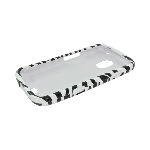 Samsung Galaxy Nexus Hard Case - White/ Black Zebra