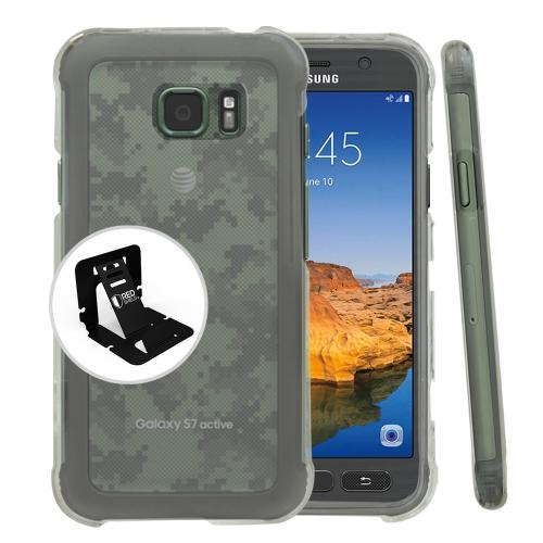 Samsung Galaxy S7 Active Case, REDshield [Clear] Slim & Protective Crystal Glossy Hard Plastic Case