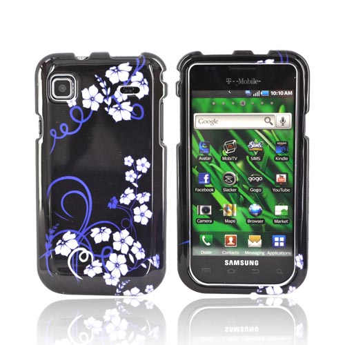 Samsung Vibrant/Galaxy S 4G Hard Case - Midnight Flowers on Black