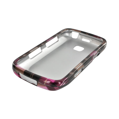 Samsung Illusion i110 Hard Case - Plaid Pattern of Pink, Hot Pink, Brown, & Silver