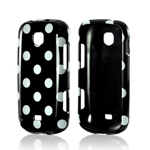 White Polka Dots on Black Hard Case for Samsung Galaxy Stellar