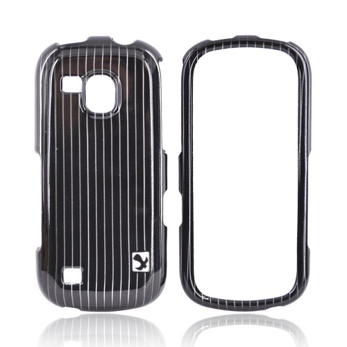 Luxmo Samsung Continuum i400 Hard Case - Silver Lines on Black