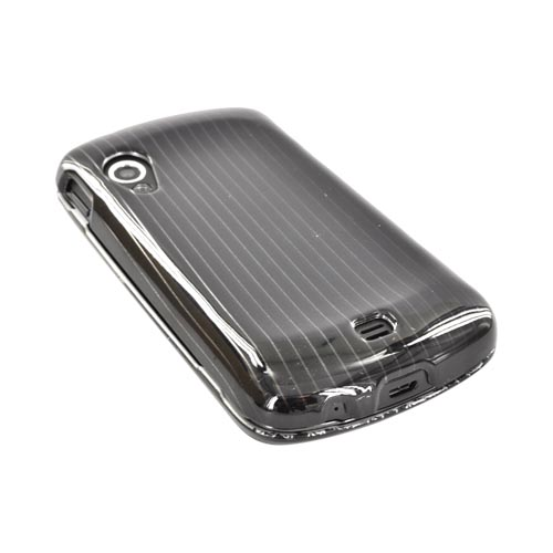 Samsung Stratosphere i405 Hard Case - Silver Lines on Black