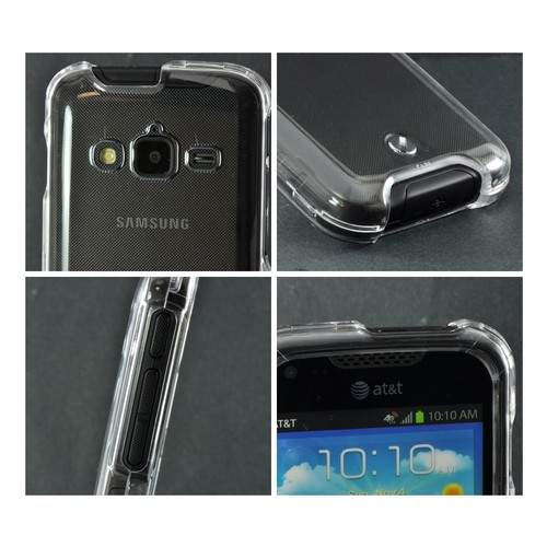 Transparent Clear Hard Case for Samsung Galaxy Rugby Pro