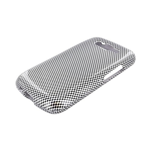 Samsung Focus 2 Hard Case - Black/ Gray Carbon Fiber