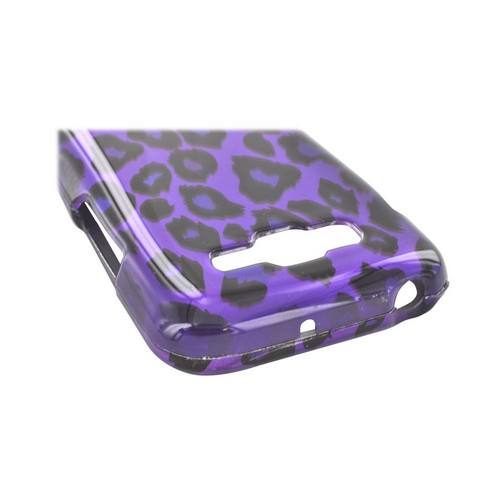 Samsung Focus 2 Hard Case - Purple/ Black Leopard
