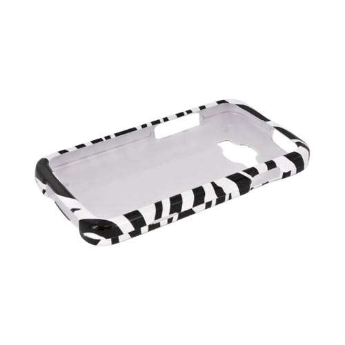 Samsung Rugby Smart i847 Hard Case - Black/ White Zebra