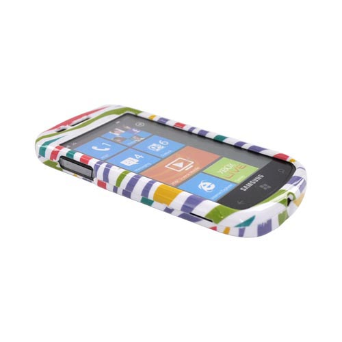 Samsung Focus i917 Hard Case - Colorful Zebra on White