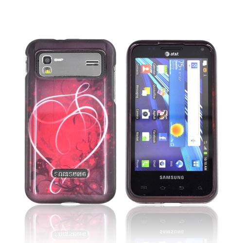 Samsung Captivate Glide i927 Hard Case - Red Heart on Stars