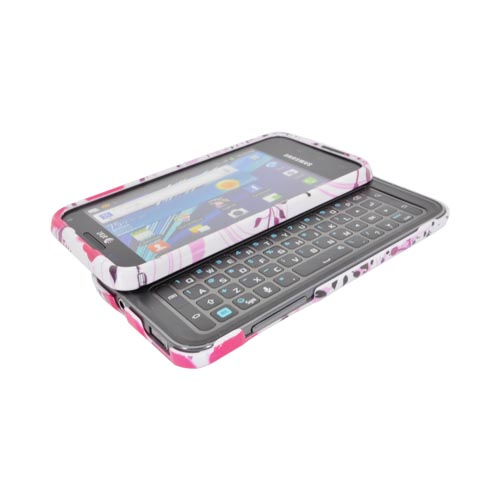 Samsung Captivate Glide i927 Hard Case - Pink Flower Splash on White