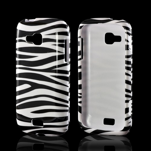 White/ Black Zebra Hard Case for Samsung ATIV Odyssey