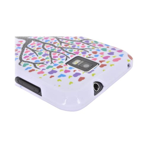 Samsung Focus S i937 Hard Case - Black Tree w/ Multi-Colored Hearts on White