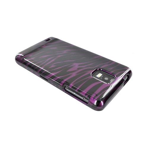 Samsung Infuse i997 Hard Case - Purple/ Black Zebra