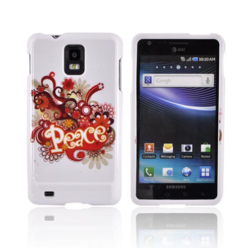 Samsung Infuse i997 Hard Case - Red/ Yellow Peace on White