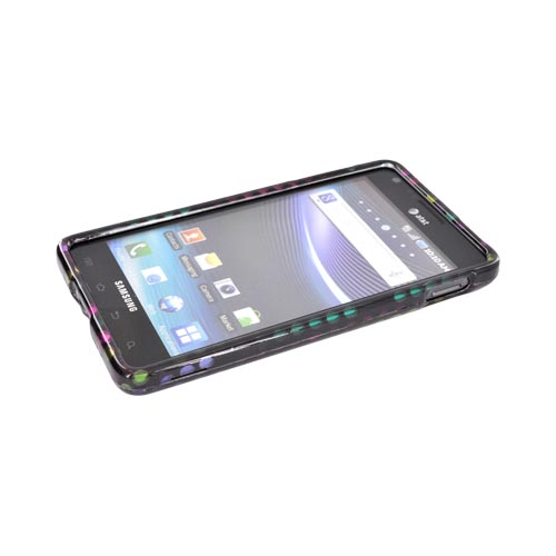Samsung Infuse i997 Hard Case - Rainbow Falling Dots on Black