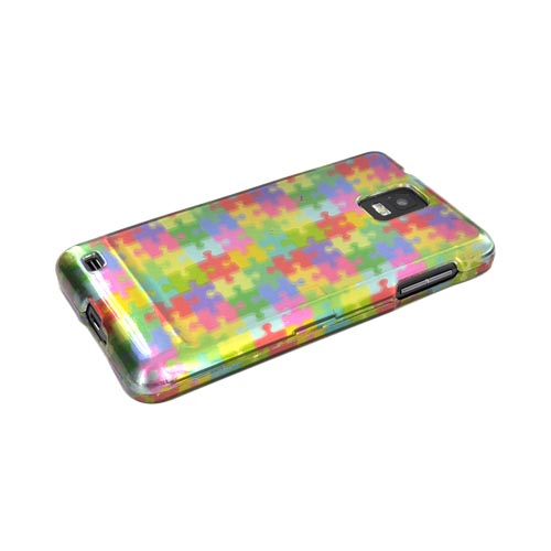 Samsung Infuse i997 Hard Case - Rainbow Puzzle Pieces