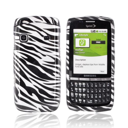 Samsung Replenish M580 Hard Case - Black/ Silver Zebra