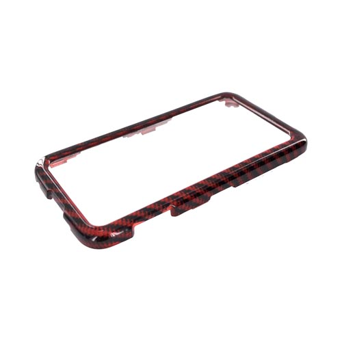 Samsung Galaxy Prevail M820 Hard Case - Red Carbon Fiber Lines