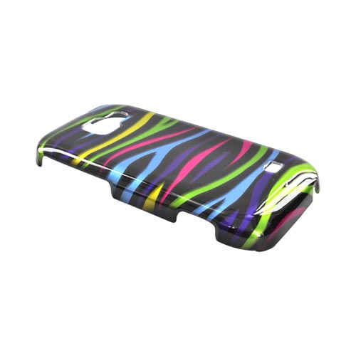 Samsung Transform M920 Hard Case - Colorful Zebra on Black