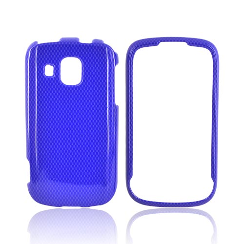 Samsung Transform Ultra M930 Hard Case - Blue Carbon Fiber
