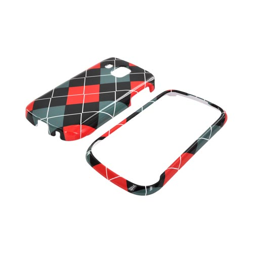 Samsung Transform Ultra M930 Hard Case - Red/ Black/ Gray Argyle