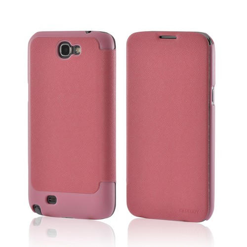 Baby Pink Diary Flip Cover Premium Hard Case w/ ID Slots for Samsung Galaxy Note 2