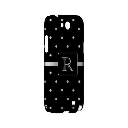 R on Classic Mini Polka Dots - Geeks Designer Line Monogram Series Hard Case for Samsung Galaxy Note 2