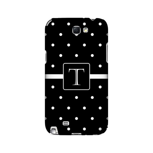 T on Classic Mini Polka Dots - Geeks Designer Line Monogram Series Hard Case for Samsung Galaxy Note 2
