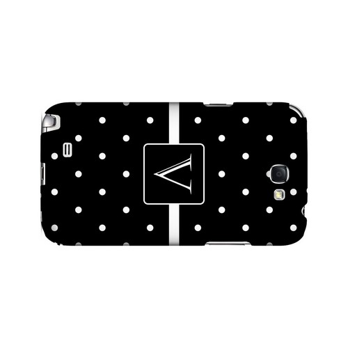 V on Classic Mini Polka Dots - Geeks Designer Line Monogram Series Hard Case for Samsung Galaxy Note 2