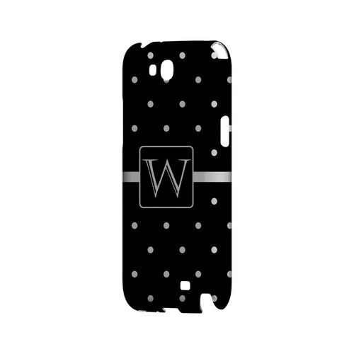 W on Classic Mini Polka Dots - Geeks Designer Line Monogram Series Hard Case for Samsung Galaxy Note 2
